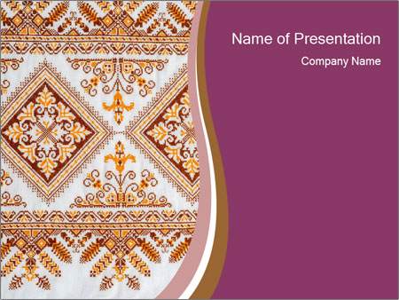 Ukrainian embroidery design powerpoint template backgrounds id ukrainian embroidery design powerpoint template toneelgroepblik Images