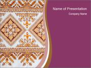 Ukrainian Embroidery Design PowerPoint presentationsmallar