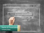 Draw on Touch Screen Шаблоны презентаций PowerPoint
