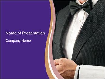 Elegant Waiter PowerPoint Template