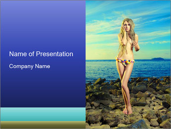 Naked Lady in Sunlight PowerPoint Template