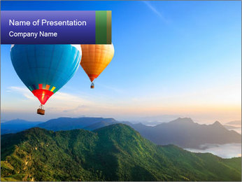 Two Air Balloons PowerPoint Template