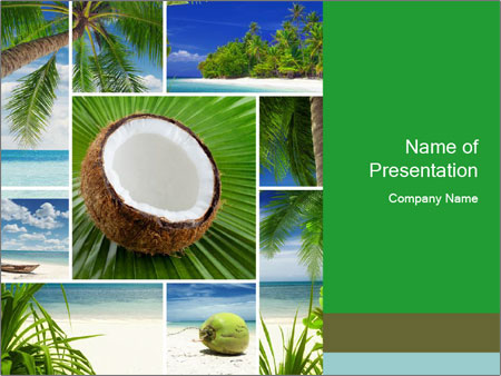 Coconut collage powerpoint template backgrounds id 0000020195 coconut collage powerpoint template toneelgroepblik Gallery