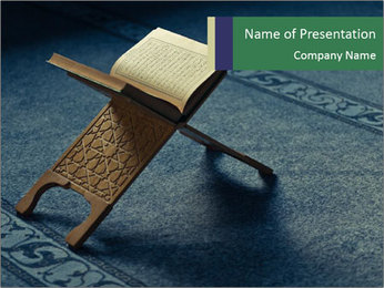Read Koran in Mosque PowerPoint Template