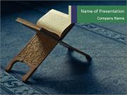 Read Koran in Mosque PowerPoint Templates