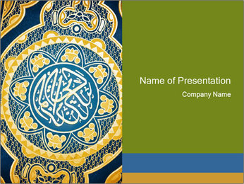 Ornament on Koran Book PowerPoint Template