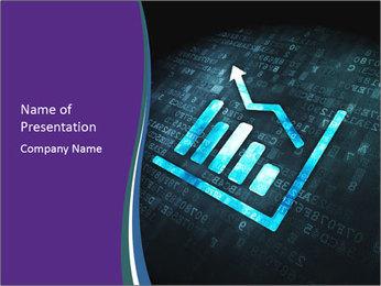 Blue Finance Growth Graph PowerPoint Template