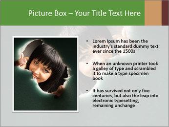 Smiling Girl Looking Through Hole Modèles des présentations  PowerPoint - Diapositives 13