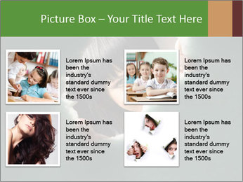 Smiling Girl Looking Through Hole Modèles des présentations  PowerPoint - Diapositives 14