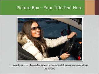 Smiling Girl Looking Through Hole Modèles des présentations  PowerPoint - Diapositives 15
