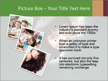 Smiling Girl Looking Through Hole Modèles des présentations  PowerPoint - Diapositives 17