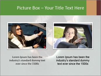 Smiling Girl Looking Through Hole Modèles des présentations  PowerPoint - Diapositives 18