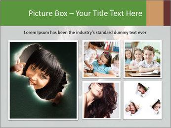 Smiling Girl Looking Through Hole Modèles des présentations  PowerPoint - Diapositives 19