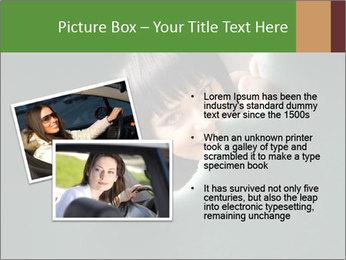 Smiling Girl Looking Through Hole Modèles des présentations  PowerPoint - Diapositives 20