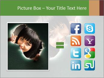 Smiling Girl Looking Through Hole Modèles des présentations  PowerPoint - Diapositives 21