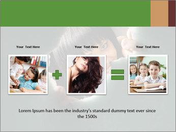 Smiling Girl Looking Through Hole Modèles des présentations  PowerPoint - Diapositives 22