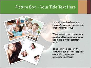 Smiling Girl Looking Through Hole Modèles des présentations  PowerPoint - Diapositives 23