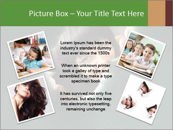 Smiling Girl Looking Through Hole Modèles des présentations  PowerPoint - Diapositives 24