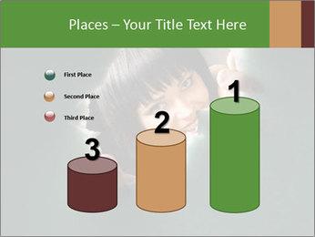 Smiling Girl Looking Through Hole Modèles des présentations  PowerPoint - Diapositives 65