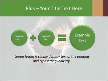 Smiling Girl Looking Through Hole Modèles des présentations  PowerPoint - Diapositives 75