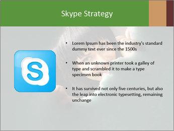 Smiling Girl Looking Through Hole Modèles des présentations  PowerPoint - Diapositives 8