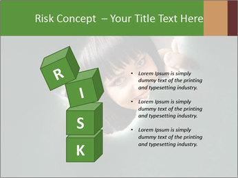 Smiling Girl Looking Through Hole Modèles des présentations  PowerPoint - Diapositives 81