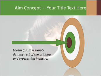 Smiling Girl Looking Through Hole Modèles des présentations  PowerPoint - Diapositives 83
