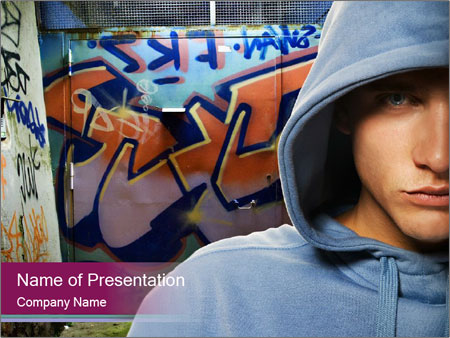 Graffiti painter powerpoint template backgrounds id 0000020286 graffiti painter powerpoint template toneelgroepblik Image collections