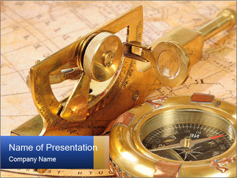 Golden Compass PowerPoint Template