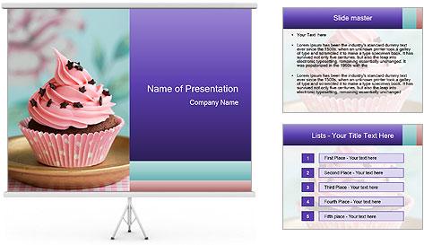 chocolate cupcake with pink cream plantillas de presentaciones powerpoint y fondos id 0000020333. Black Bedroom Furniture Sets. Home Design Ideas