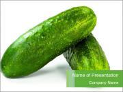Organic Cucumber PowerPoint Templates