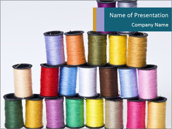 Colors of Threads PowerPoint Template