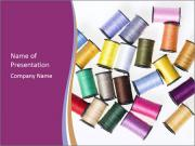 Sewing Thread Catalogue PowerPoint Templates