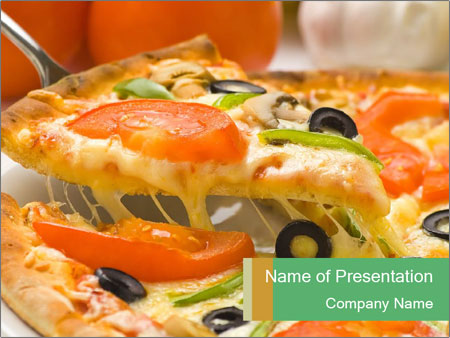 Mozzarella Pizza Powerpoint Template Backgrounds Id 0000020360