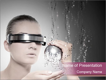 Woman Robot PowerPoint Template