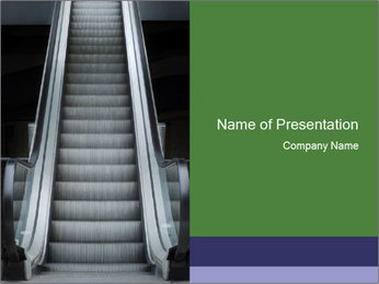 Escalator PowerPoint Template