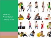 Collage of Cheerful People PowerPoint Templates
