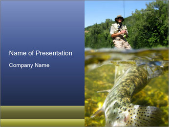 Fishing on the Lake PowerPoint Template