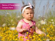 Summer Girl in Meadow PowerPoint Templates