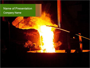 Heat in Factory Stove PowerPoint Template