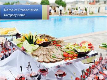 Buffet in Hotel PowerPoint Template