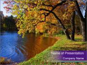 Park During Autumn Season PowerPoint Templates