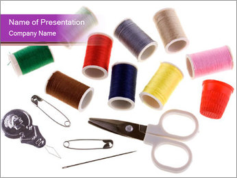 Mini Sewing Set PowerPoint Template