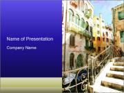 Narrow Streets Oil Painting PowerPoint Templates