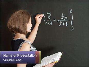 Math School Teacher PowerPoint Template