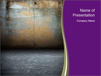Scary Grunge Room PowerPoint Template