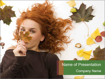Fashion for Autumn Season PowerPoint Template