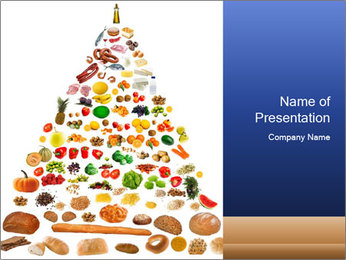 Basic Food Pyramid PowerPoint Template