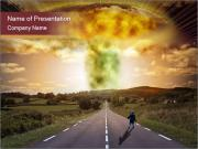Dangerous Nuclear Explosion PowerPoint演示模板