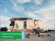 Broken House PowerPoint Templates